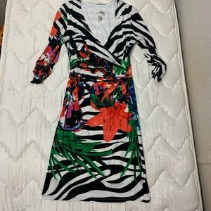 Joseph Ribkoff size 6 tropical print dress
